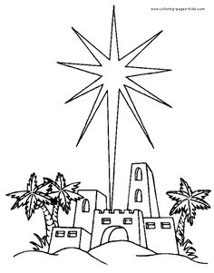 Bethlehem at night black and white clipart graphic library Star Of Bethlehem Drawing at PaintingValley.com | Explore collection ... graphic library