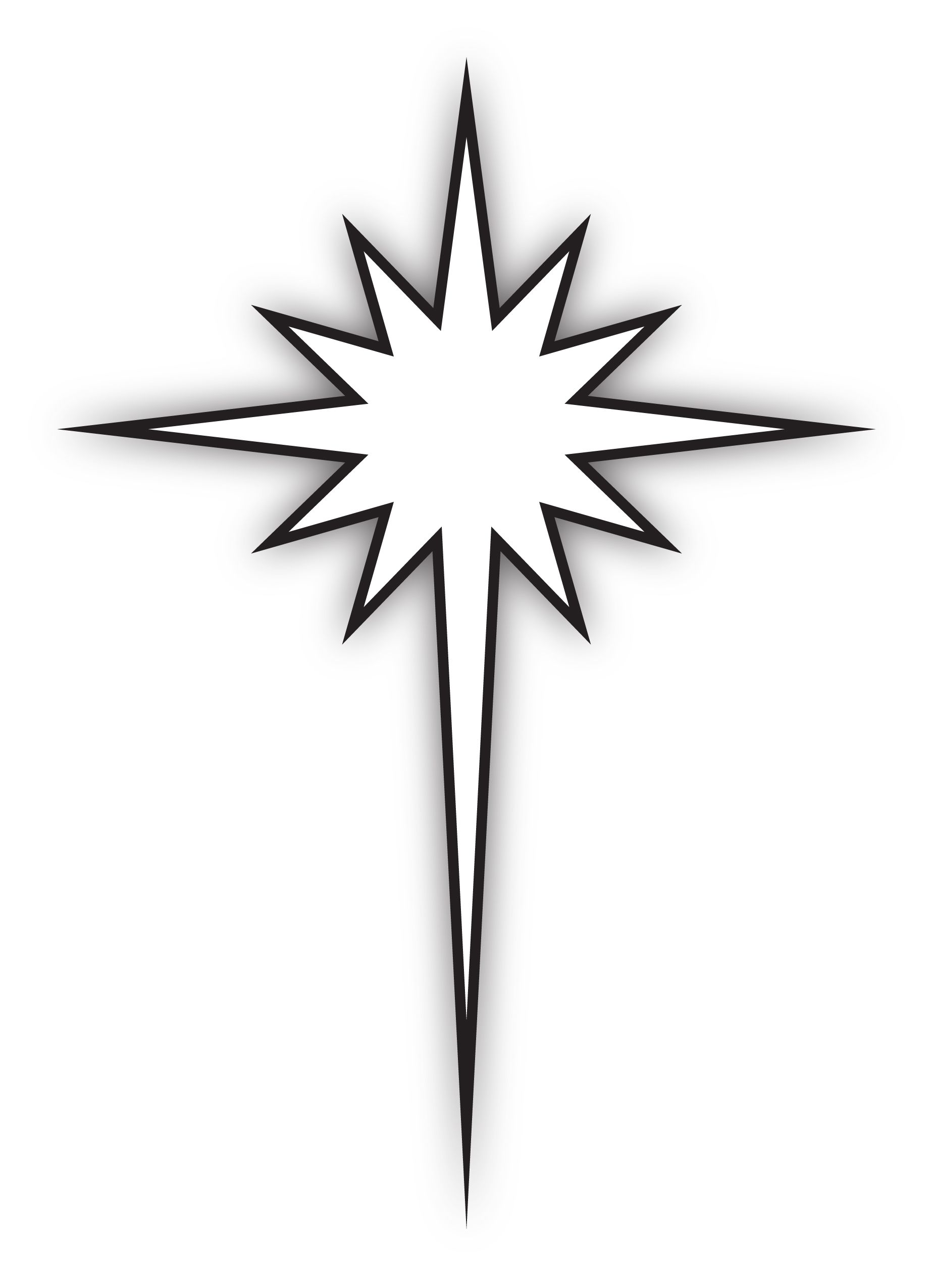 Bethlehem at night black and white clipart png free stock Star Of Bethlehem Drawing | Free download best Star Of Bethlehem ... png free stock