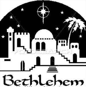 Bethlehem at night black and white clipart black and white download Bethlehem Clipart Black And White & Clip Art Images #10628 ... black and white download