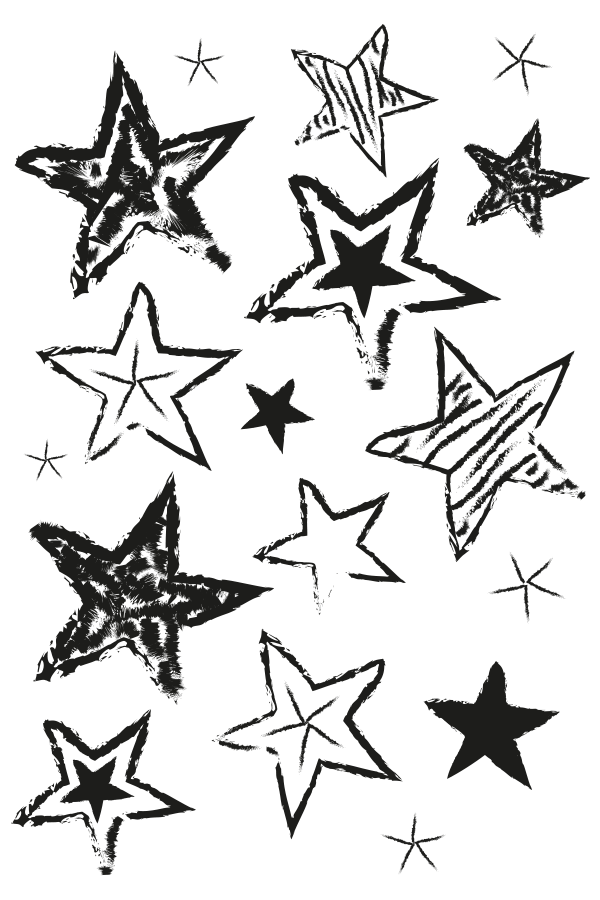 Star of bethlehem clipart black and white clipart black and white library Hand Drawn Stars Stamp | Paper Bakery Kits - ClipArt Best - ClipArt ... clipart black and white library