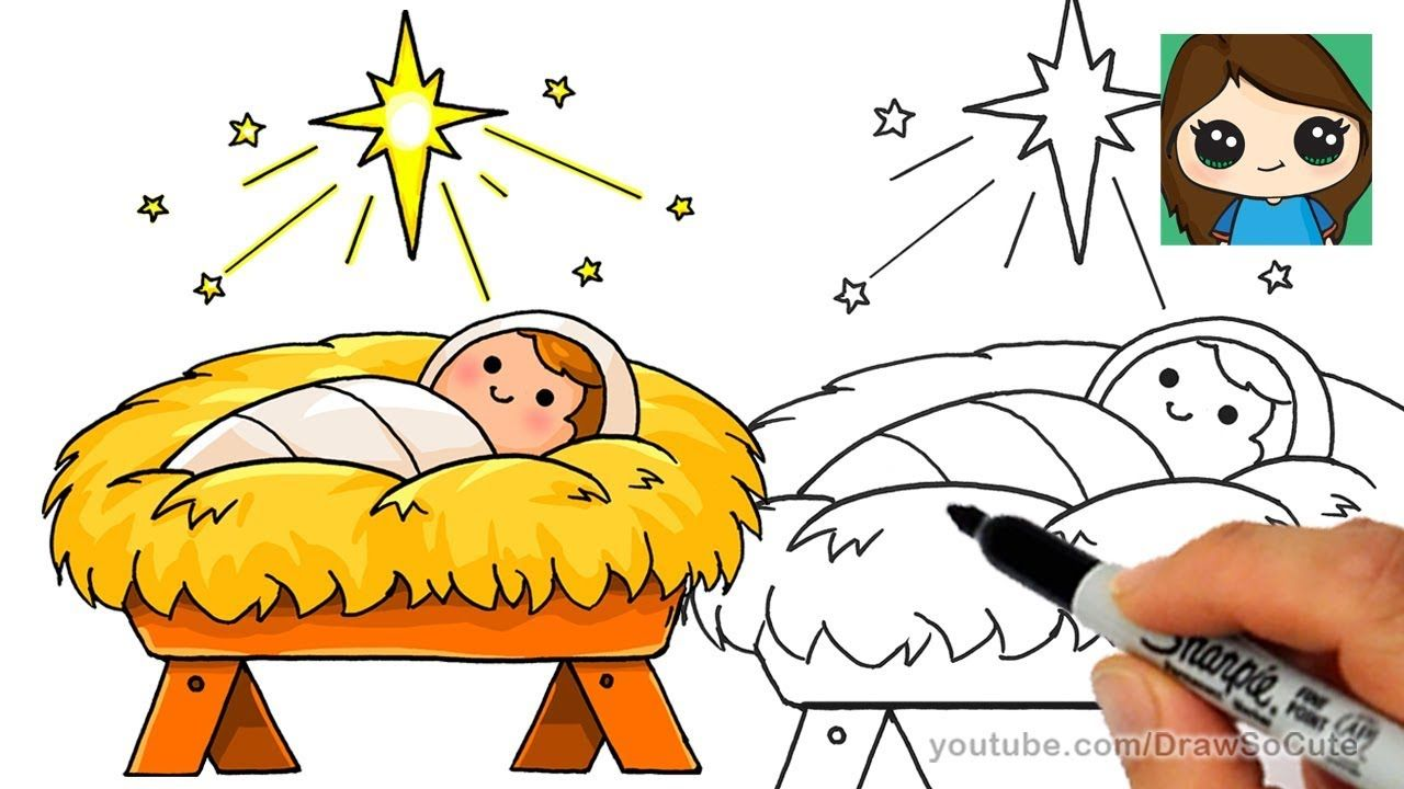 Bethlehem-s child clipart picture transparent stock How to Draw Baby Jesus EASY | Star of Bethlehem Nativity Scene ... picture transparent stock