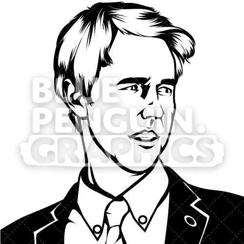 Beto clipart vector free library United States Congressman Beto O\'Rourke Silhouette   Silhouettes ... vector free library