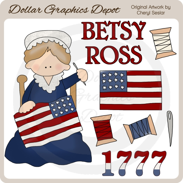 Betsy clipart png transparent Betsy Ross - Clip Art - $1.00 : Dollar Graphics Depot, Quality ... png transparent