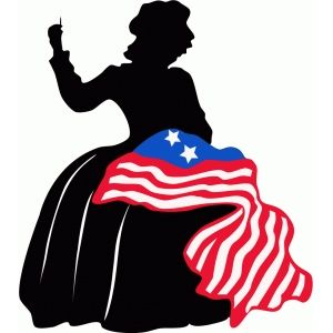 Betsy clipart picture transparent Betsy ross silhouette   shirt designs   Silhouette design, Design ... picture transparent
