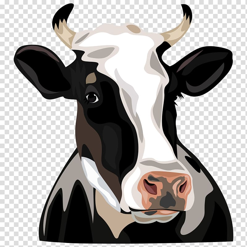 Betsy cow clipart picture free download Black, white, and brown cow illustration, Holstein Friesian cattle ... picture free download