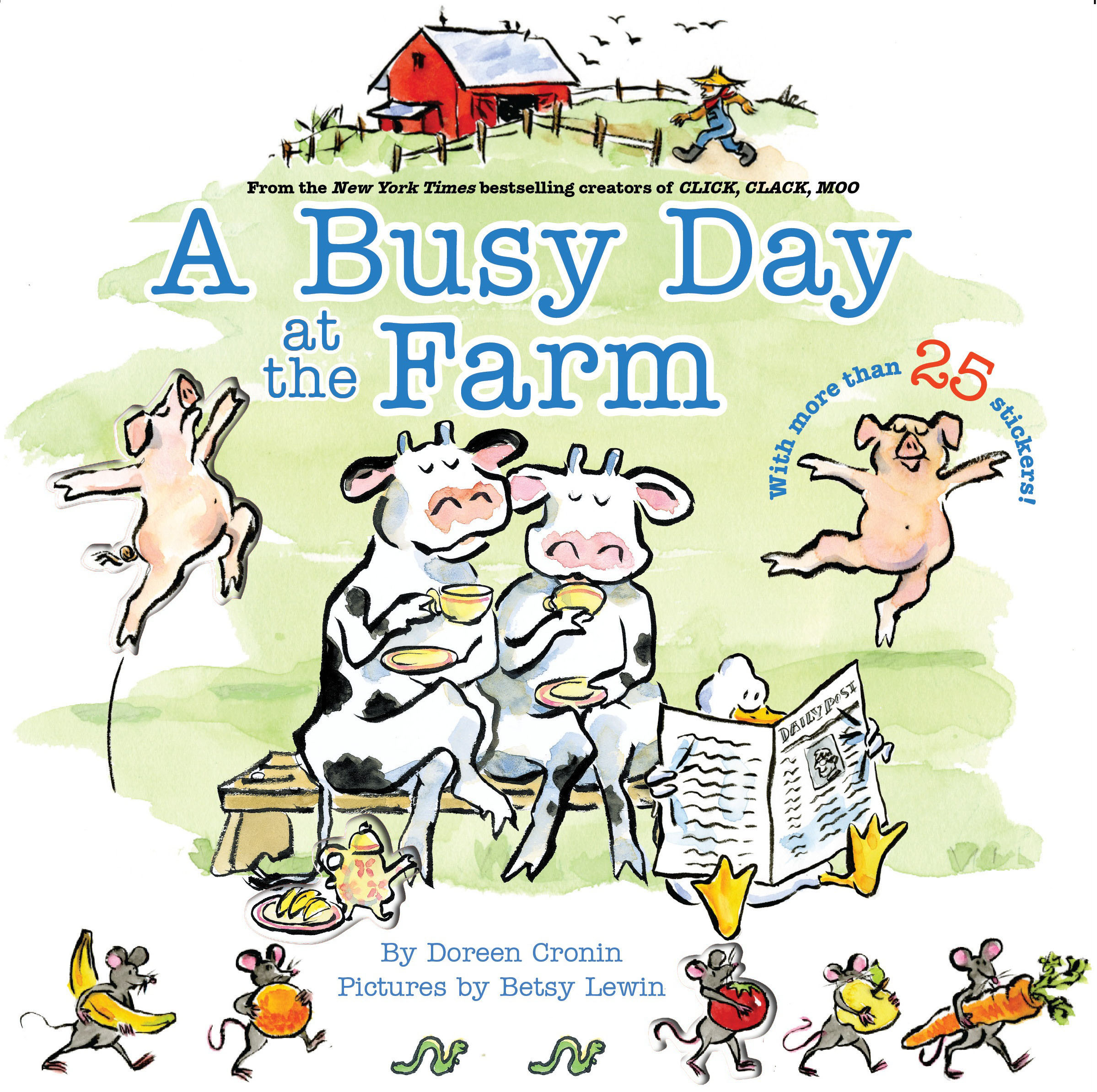 Betsy lewin clipart graphic black and white library A Busy Day at the Farm   Book by Doreen Cronin, Betsy Lewin ... graphic black and white library