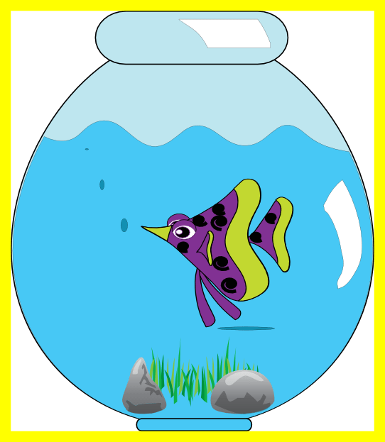Clipart fish bowl