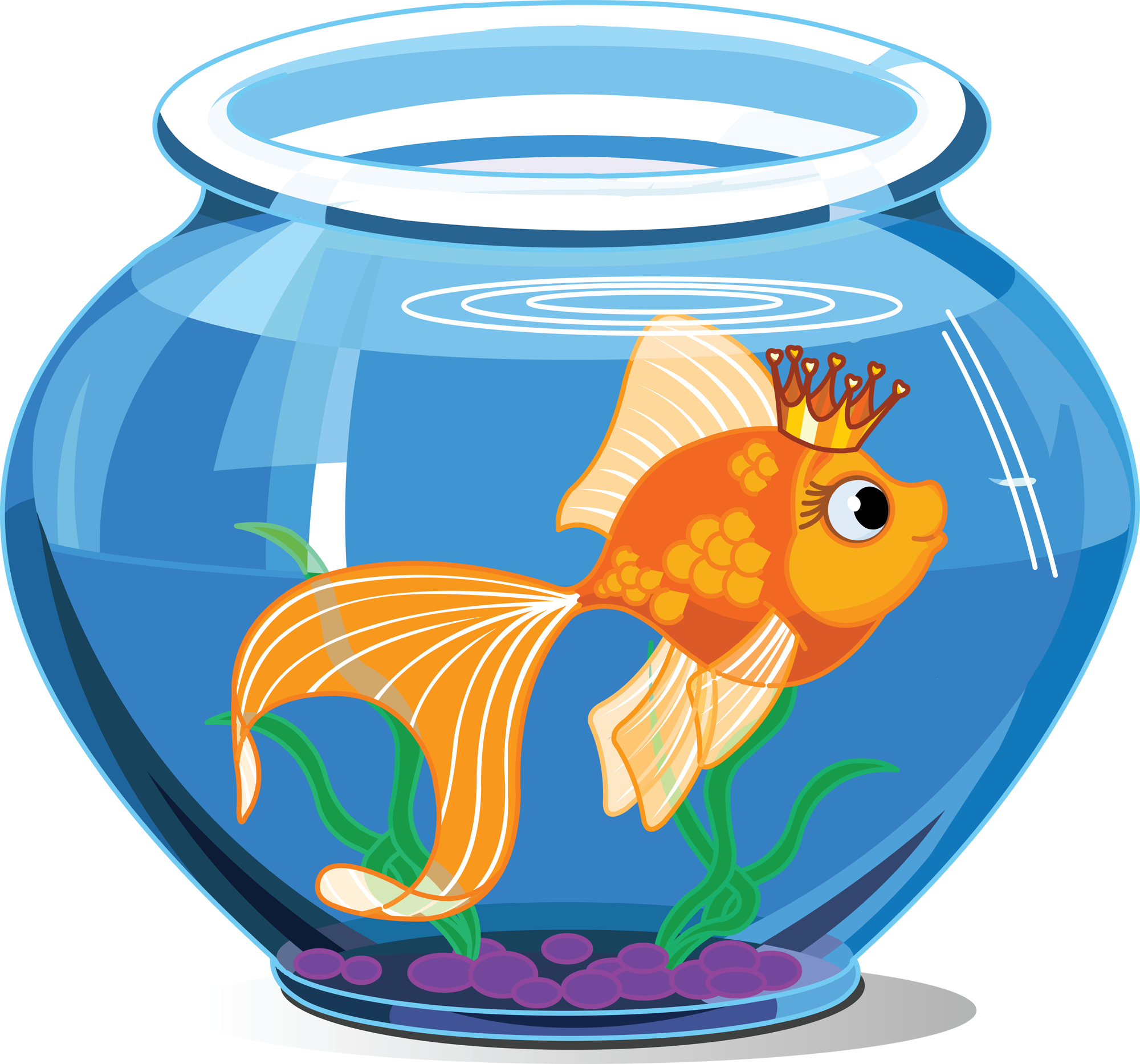 Goldfish with crown clipart graphic free stock 28+ Collection of Pet Fish Clipart | High quality, free cliparts ... graphic free stock