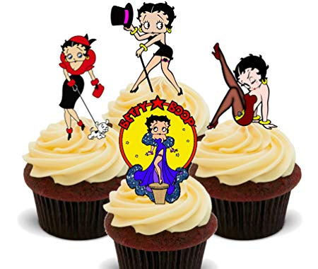 Betty boop cupcake clipart png black and white library Betty Boop Edible Cupcake Toppers - Stand-up Wafer Cake Decorations ... png black and white library