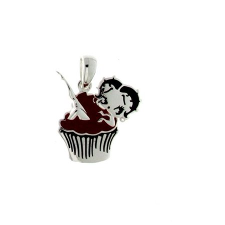 Betty boop cupcake clipart clip freeuse stock Betty Boop Cupcake Pendant W/Chain. Silver Plated clip freeuse stock