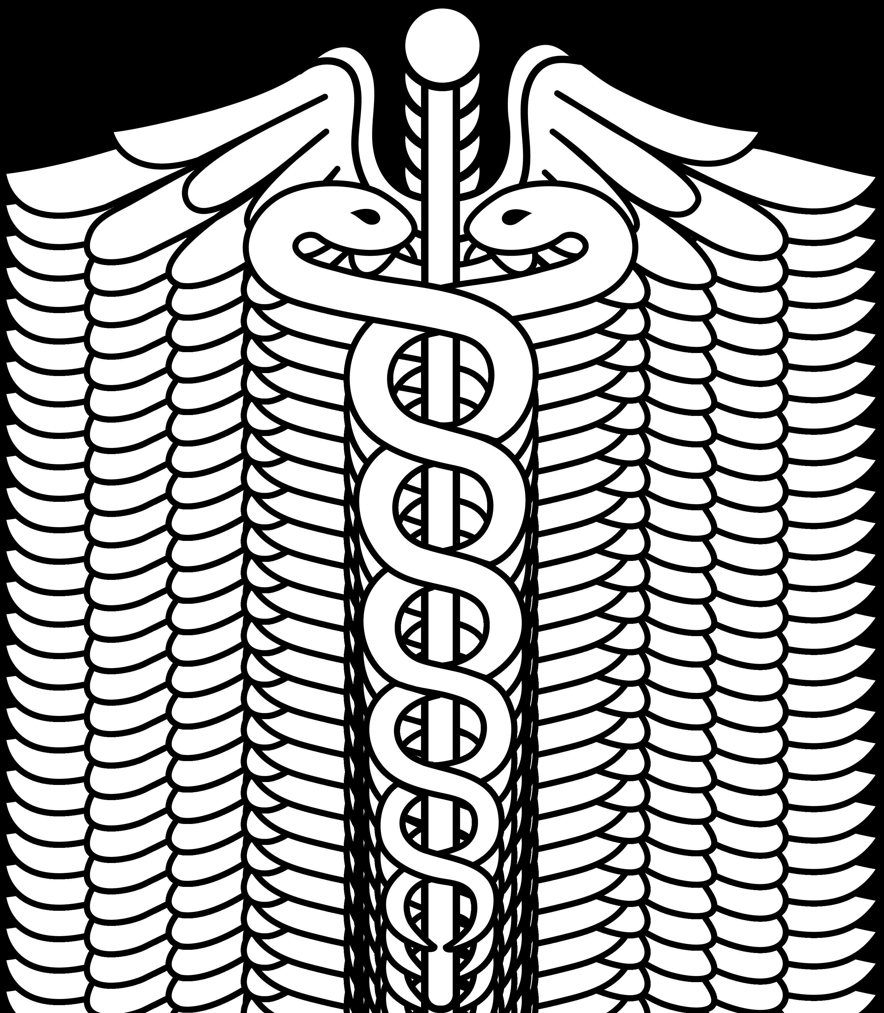 Beveled cross clipart banner library download Caduceus Medical Logo Lineart | patterns | Pinterest | Medical logo ... banner library download