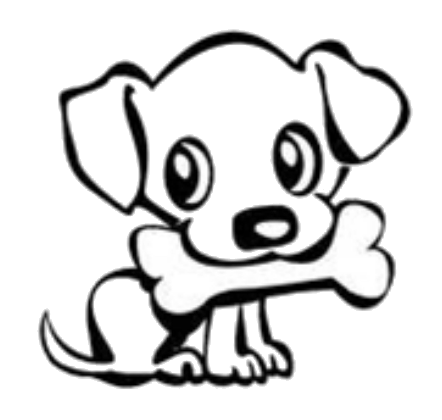 Dog with bone clipart graphic library download Dog Bone Drawings Group (59+) graphic library download