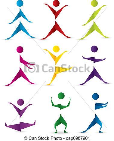 Bewegung und sport clipart. Vector clip art of