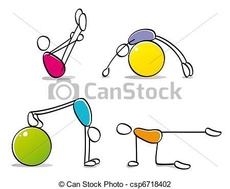 Clip art von lustiges. Bewegung und sport clipart