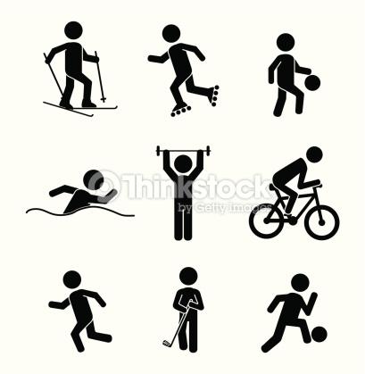 Fitnessmuster vektorgrafik thinkstock . Bewegung und sport clipart