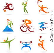 Bewegung und sport clipart. Athlete illustrations and clip