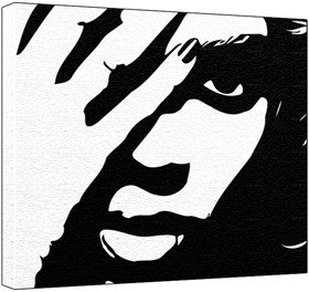Beyonce black and white clipart png free library Beyonce Knowles Pop Art Painting (100% Original Painting. Not a ... png free library
