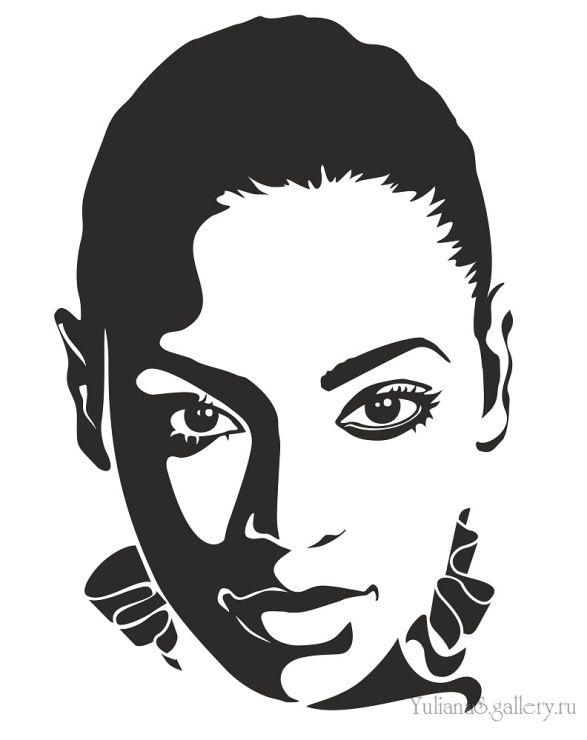 Beyonce black and white clipart clip royalty free stock Gallery.ru / Beyonce - Компьютерная графика, живопись/Computer ... clip royalty free stock