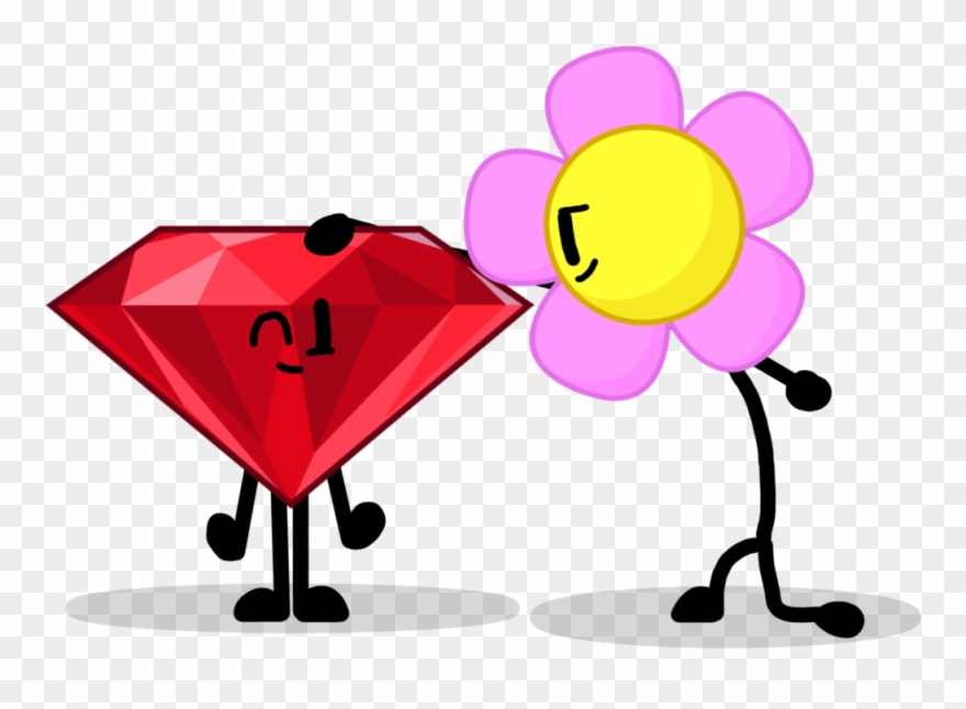 Bfdi ruby clipart picture library download You Re A Pat Image Black And White Library - Bfdi Ruby And Flower ... picture library download