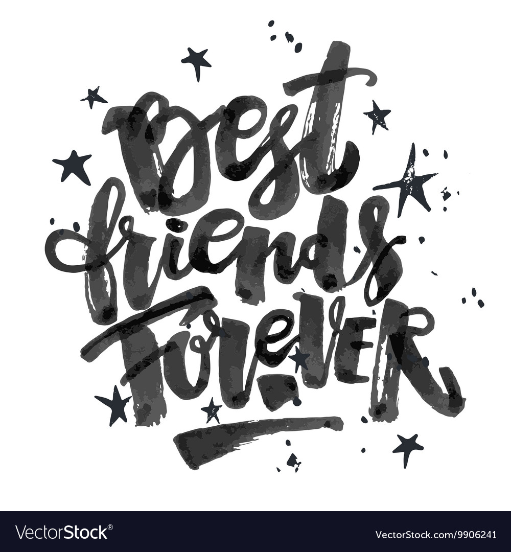 Bff forever script black and white clipart banner freeuse download Best friends forever vector image banner freeuse download