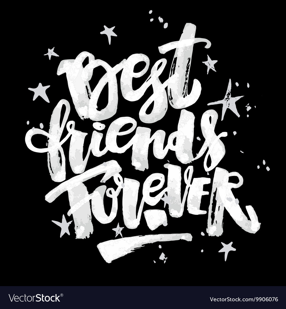 Bff forever script black and white clipart image black and white download Best friends forever vector image image black and white download