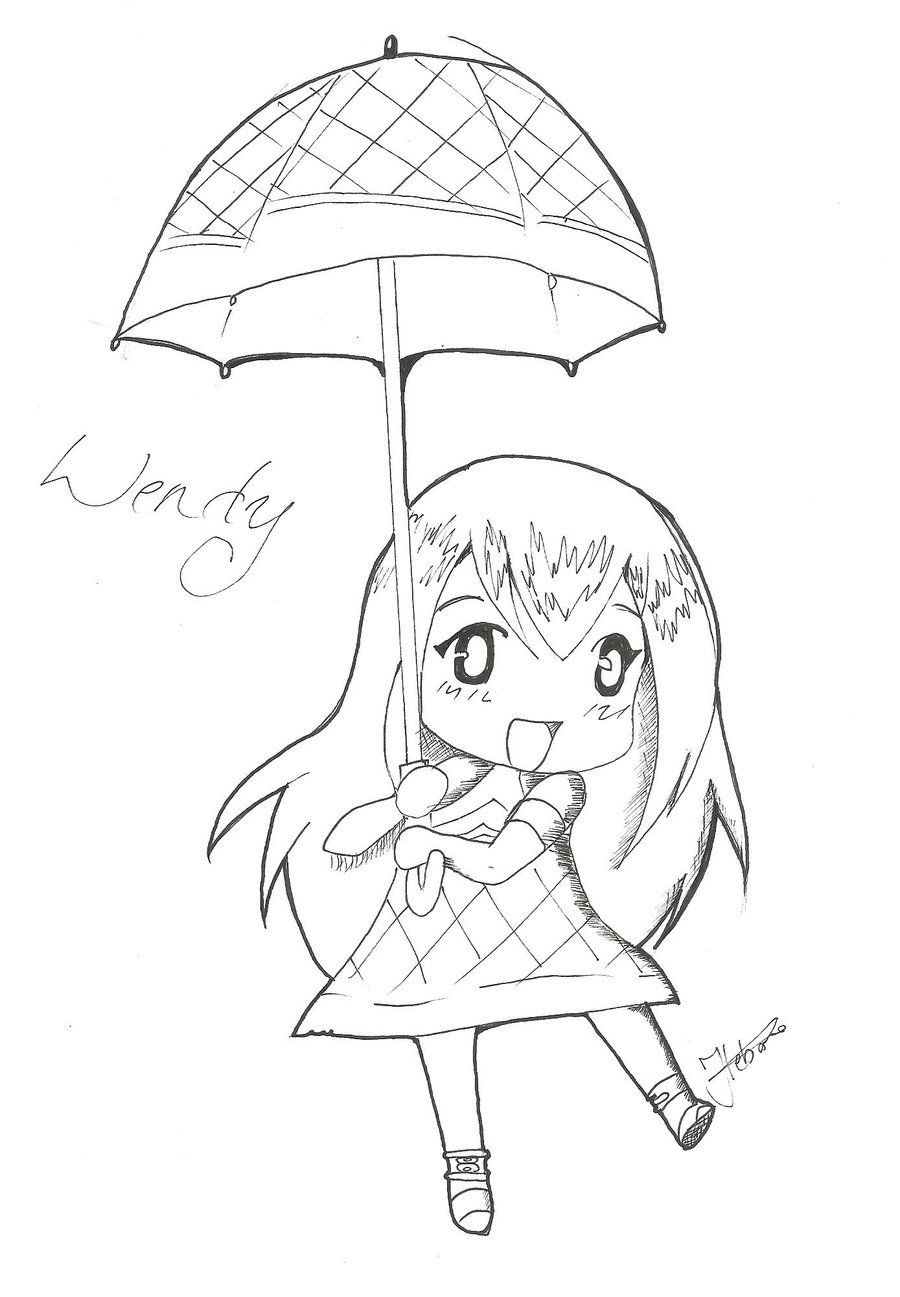 Bgbody clipart virus clipart library download Fairy tail wendy lineart - 15 linearts for free coloring on ... clipart library download