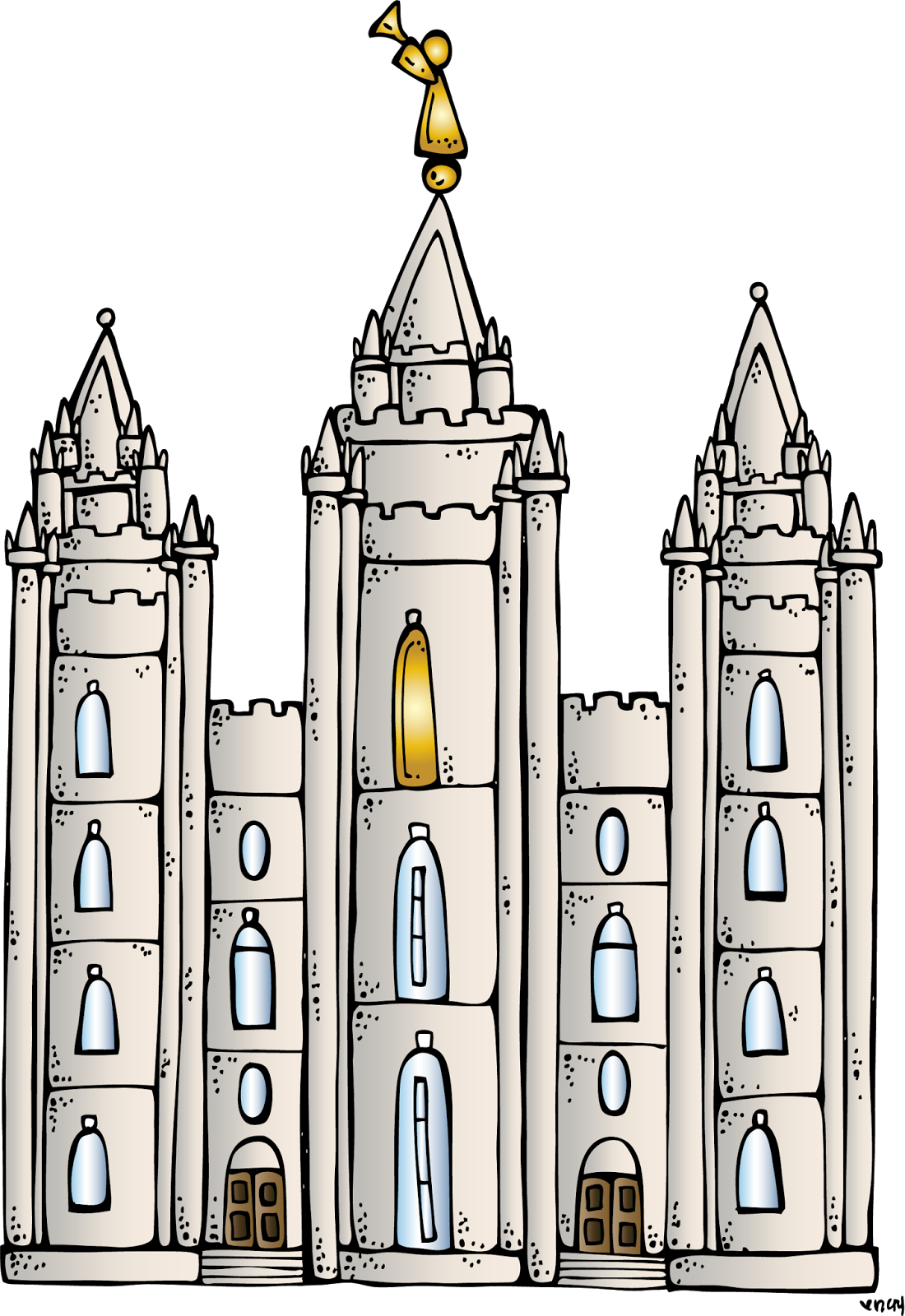 Free clipart lds book of mormon jpg free library Melonheadz LDS illustrating: I Love to see the temple coloring page ... jpg free library