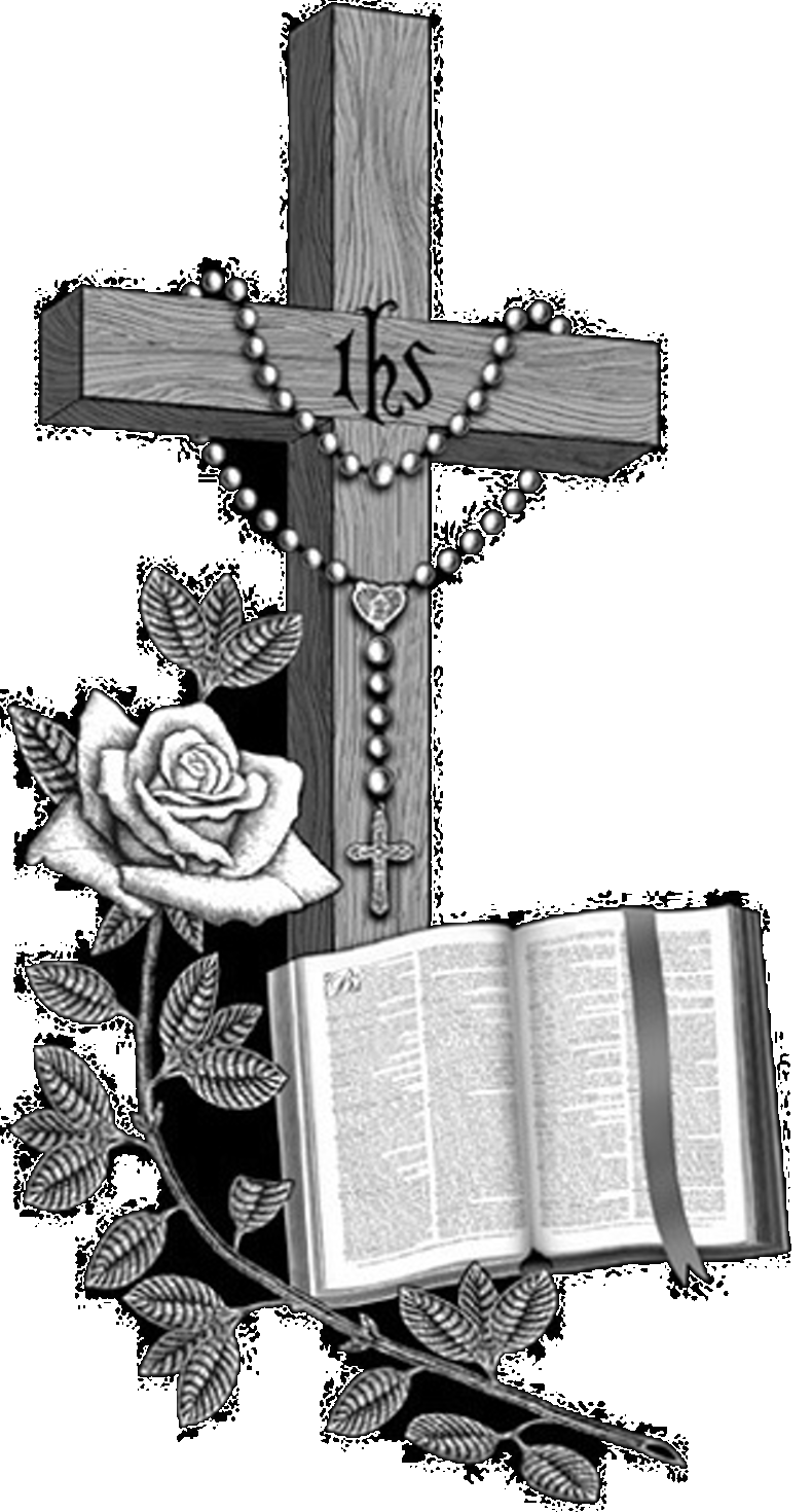 Cross and rosary clipart transparent Single Black Granite (Designs Left) ~ 24-inch Top 34-inch Base ... transparent
