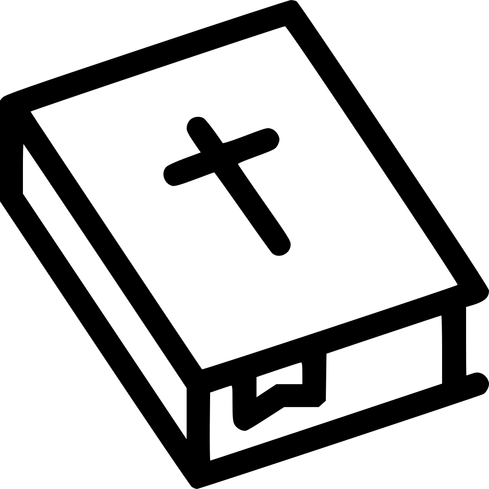 Bible and cross black and white clipart svg transparent library Bible Holy Cross Christianity Svg Png Icon Free Download (#550616 ... svg transparent library