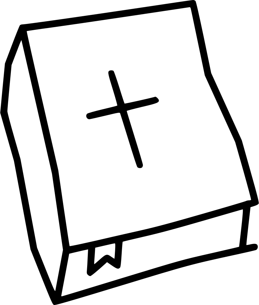 Bible and cross black and white clipart banner freeuse library Bible Holy Cross Christianity Svg Png Icon Free Download (#550103 ... banner freeuse library