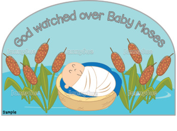 Bible and plate clipart clip freeuse stock Baby Moses in the River Craft- Bible story craft for kids clip freeuse stock