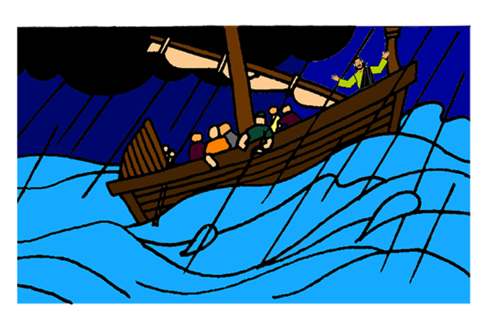 Bible boat fish clipart jpg freeuse download Jesus Calms the Storm – Mission Bible Class jpg freeuse download