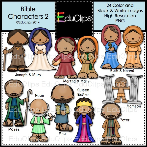 Bible character clipart black and white image transparent Bible Characters Clipart bible character clipart clipart kid | Pnew.us image transparent