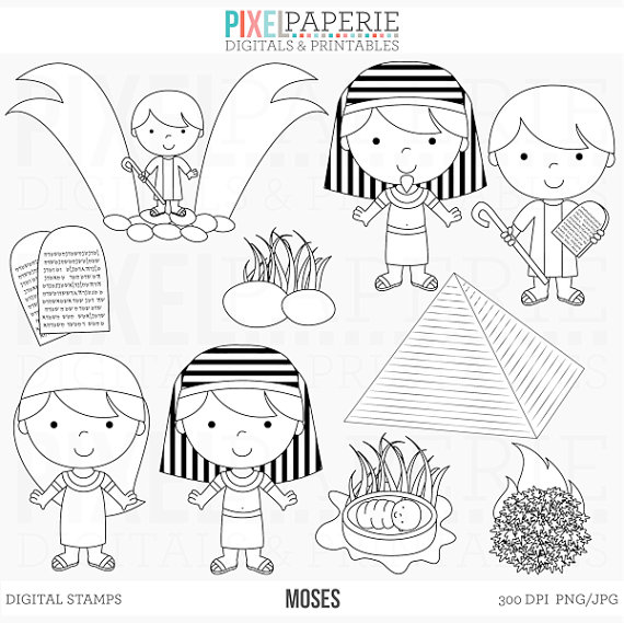 Bible character clipart black and white picture download bible characters christian stamps clipart clip art moses picture download