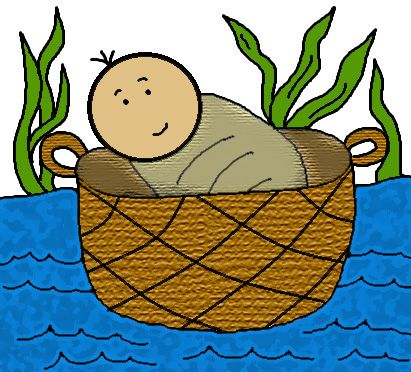 Bible character house clipart graphic royalty free stock Baby moses, Clip art and Baskets on Pinterest graphic royalty free stock