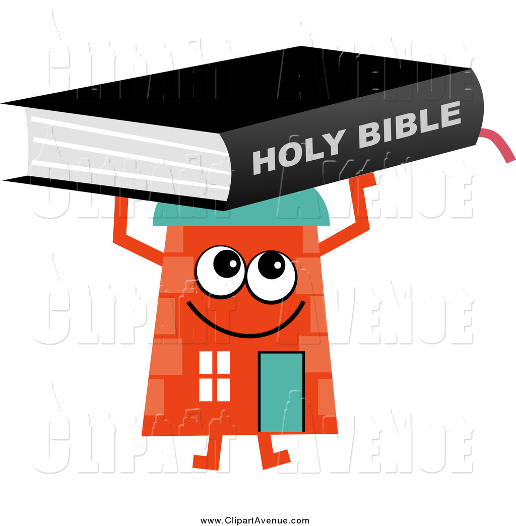 Bible character house clipart banner transparent download Avenue Clipart of a Orange House Character with a Holy Bible by ... banner transparent download