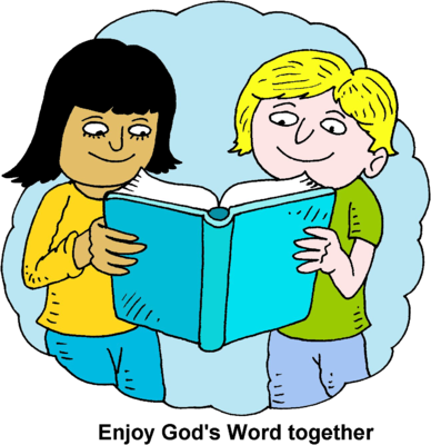 Bible clip art for children png library stock Image: Children Reading Bible Together | Bible Clip Art ... png library stock
