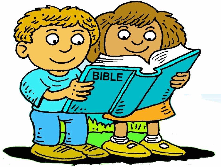 Bible clip art for children clip transparent library Children reading the bible clipart - ClipartFest clip transparent library