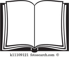 Open and illustration clip. Bible clipart