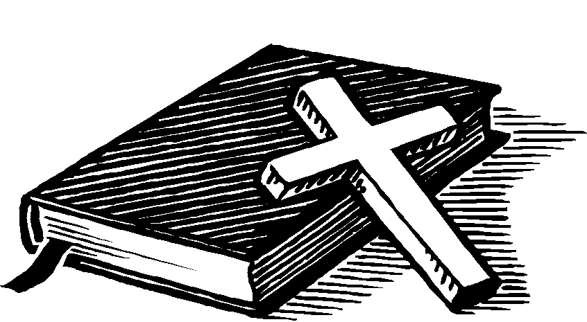 Bible clipart. Cross and kid with