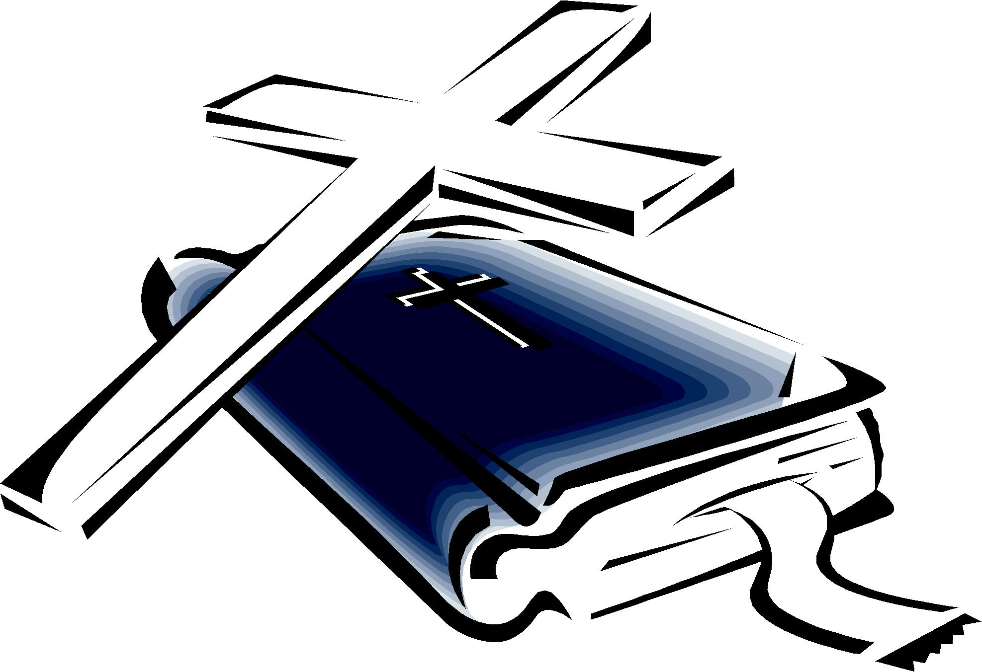 Bible cliparts picture free library Cross And Bible Clipart - Clipart Kid picture free library