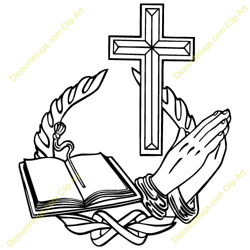 Bible cliparts clip black and white Cross And Bible Clipart - Clipart Kid clip black and white