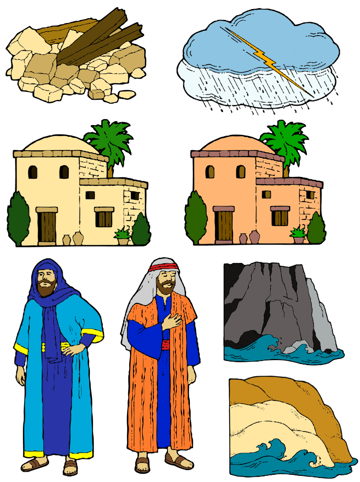 Samaritan house clipart vector transparent THE WISE MAN AND THE FOOLISH MAN STORY FIGURES | Family Home Evening ... vector transparent