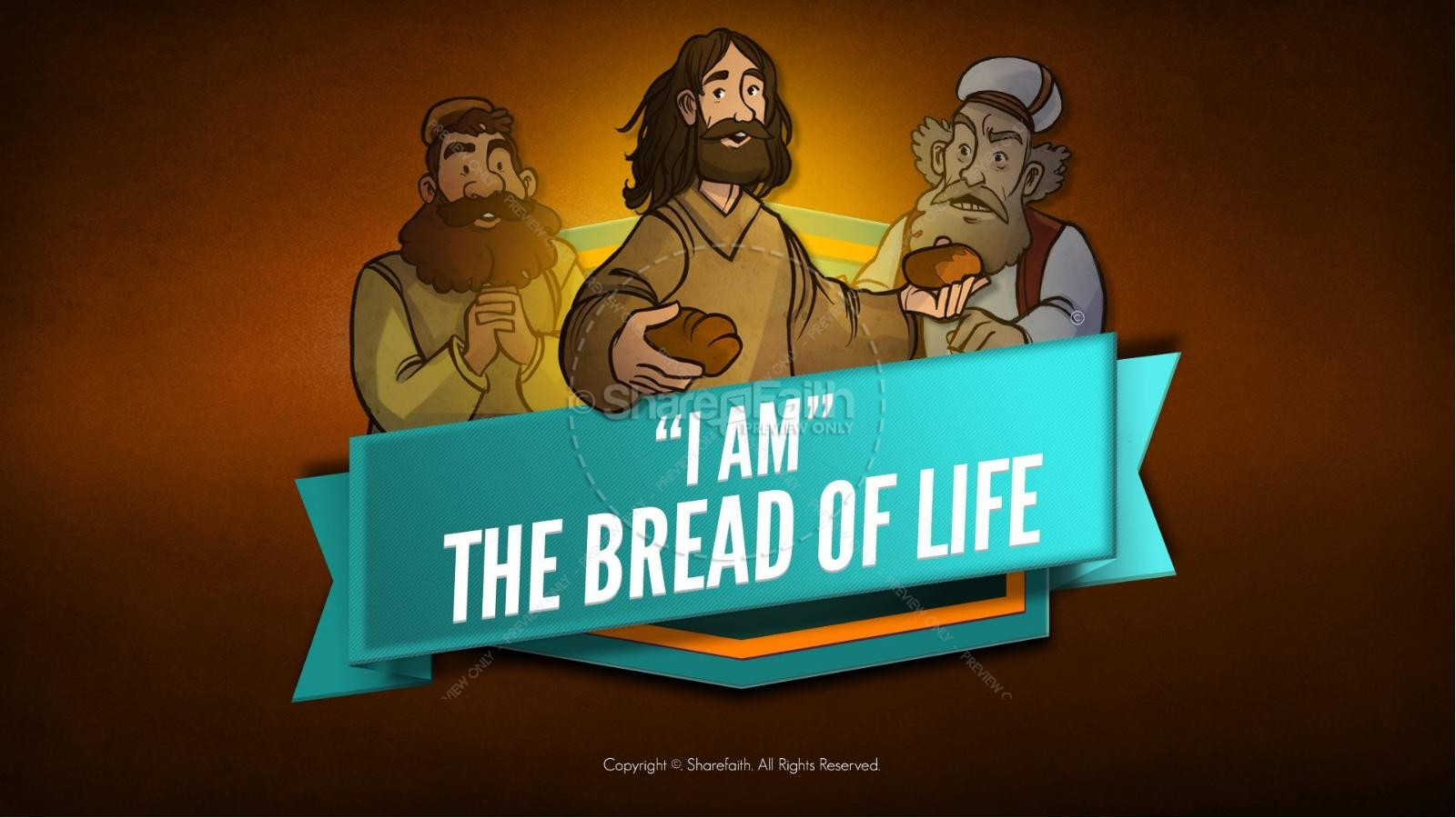 Bible life lessons for kids images clipart image black and white John 6 Bread of Life Bible Video for Kids | Bible Videos For Kids image black and white
