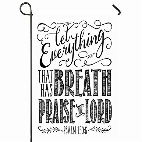 Bible verse about outdoors clipart svg library Amazon.com : Ahawoso Outdoor Garden Flags 28\