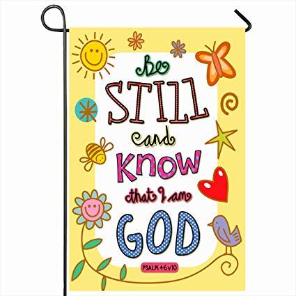 Bible verse about outdoors clipart svg stock Amazon.com : Ahawoso Outdoor Garden Flags 12\