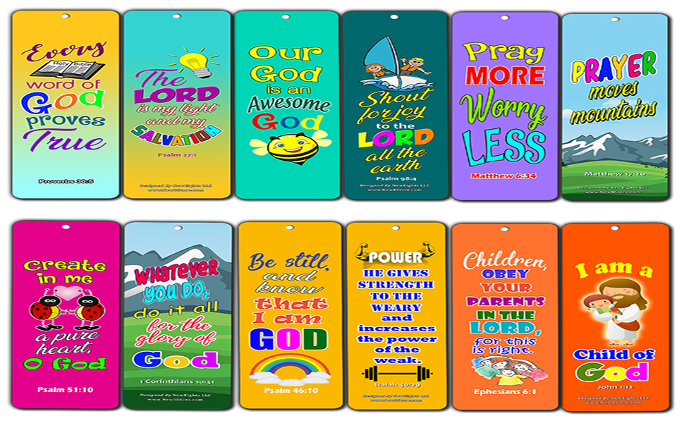 Bible verse about outdoors clipart svg free download Easy Bible Scriptures for Kids - Colorful (60-Pack) - Great Way for Kids to  Learn The Scriptures and Understand God\'s Word svg free download
