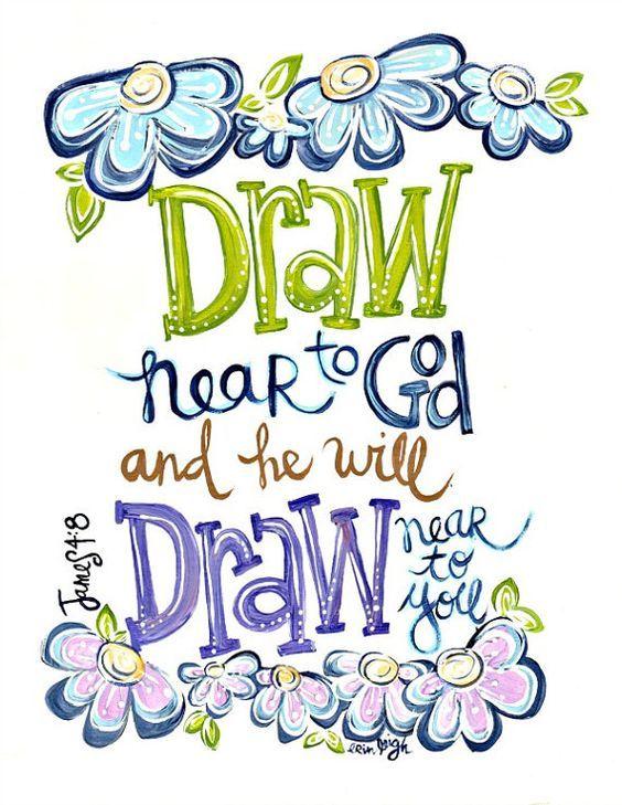 Bible verse clipart about prayer jpg transparent stock Draw near to God SCripture Art Bible verse art Christian ARt ... jpg transparent stock