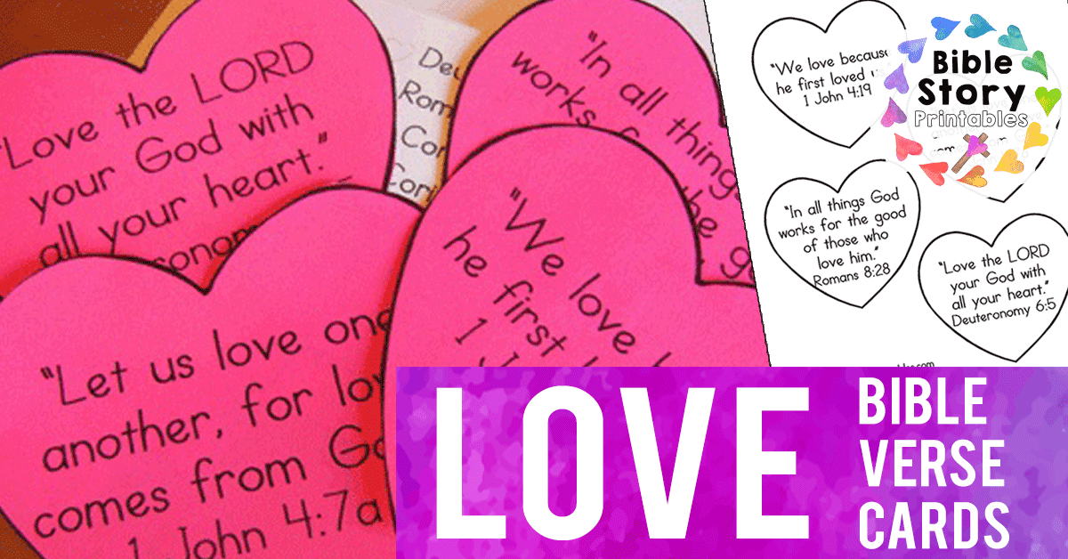 Bible verses for valentines day black and white clipart picture free download Love Bible Verses for Children - The Crafty Classroom picture free download