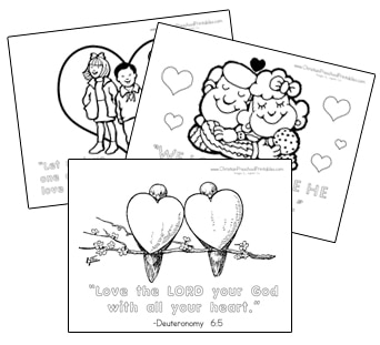 Bible verses for valentines day black and white clipart picture freeuse stock Valentine\'s Day Bible Printables - Christian Preschool Printables picture freeuse stock
